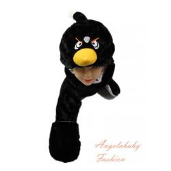 Long angry bird black