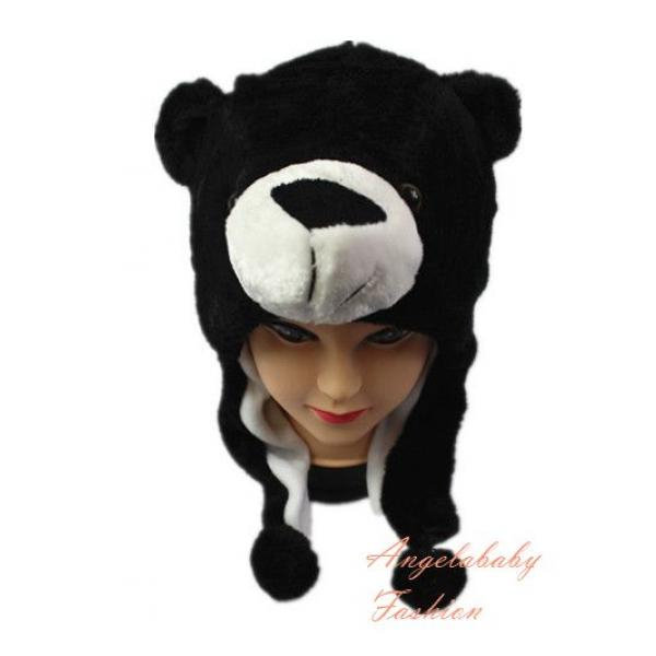 Short black white bear