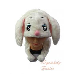 Short Big Ear Rabbit White