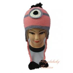 Woolen Minion one eye pink