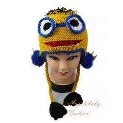 Woolen Minion two eyes yellow